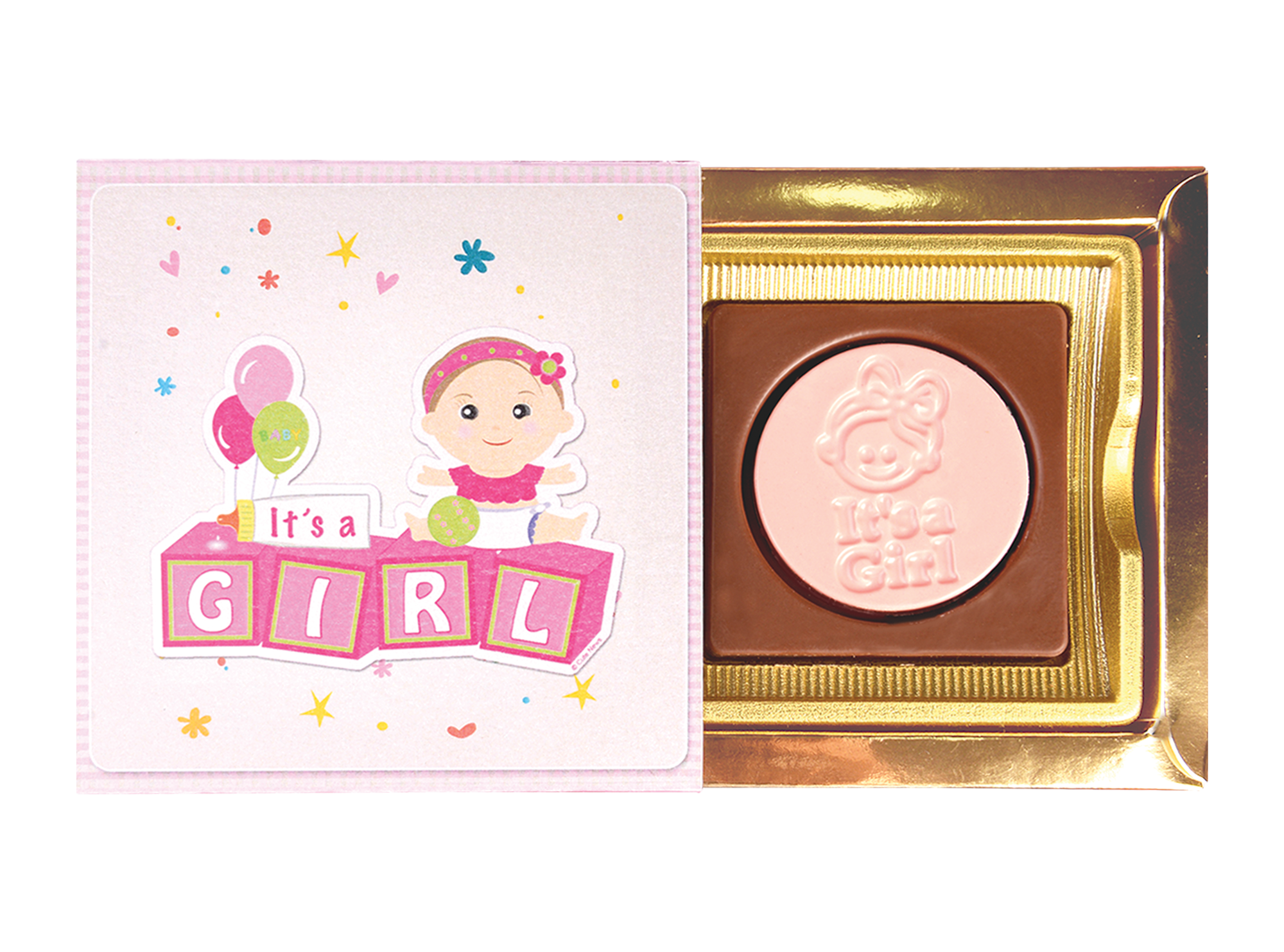 Classic It's A Girl, 2 Pcs Customized Belgian Chocolate