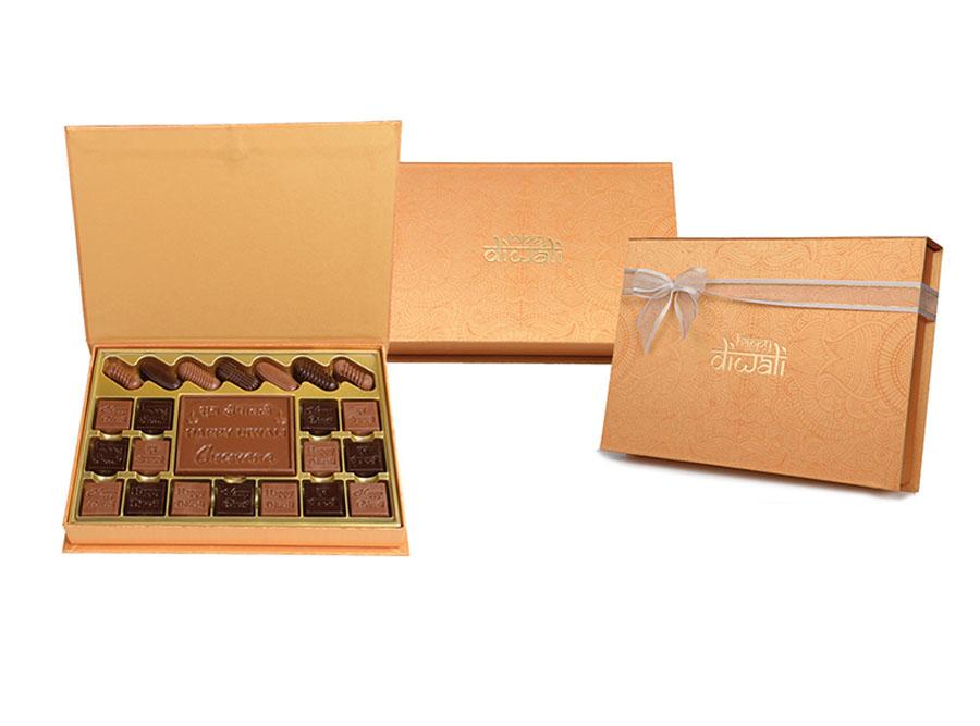 Bella Bar Diwali, 22 Pcs + Bar In Customized Belgian Chocolate