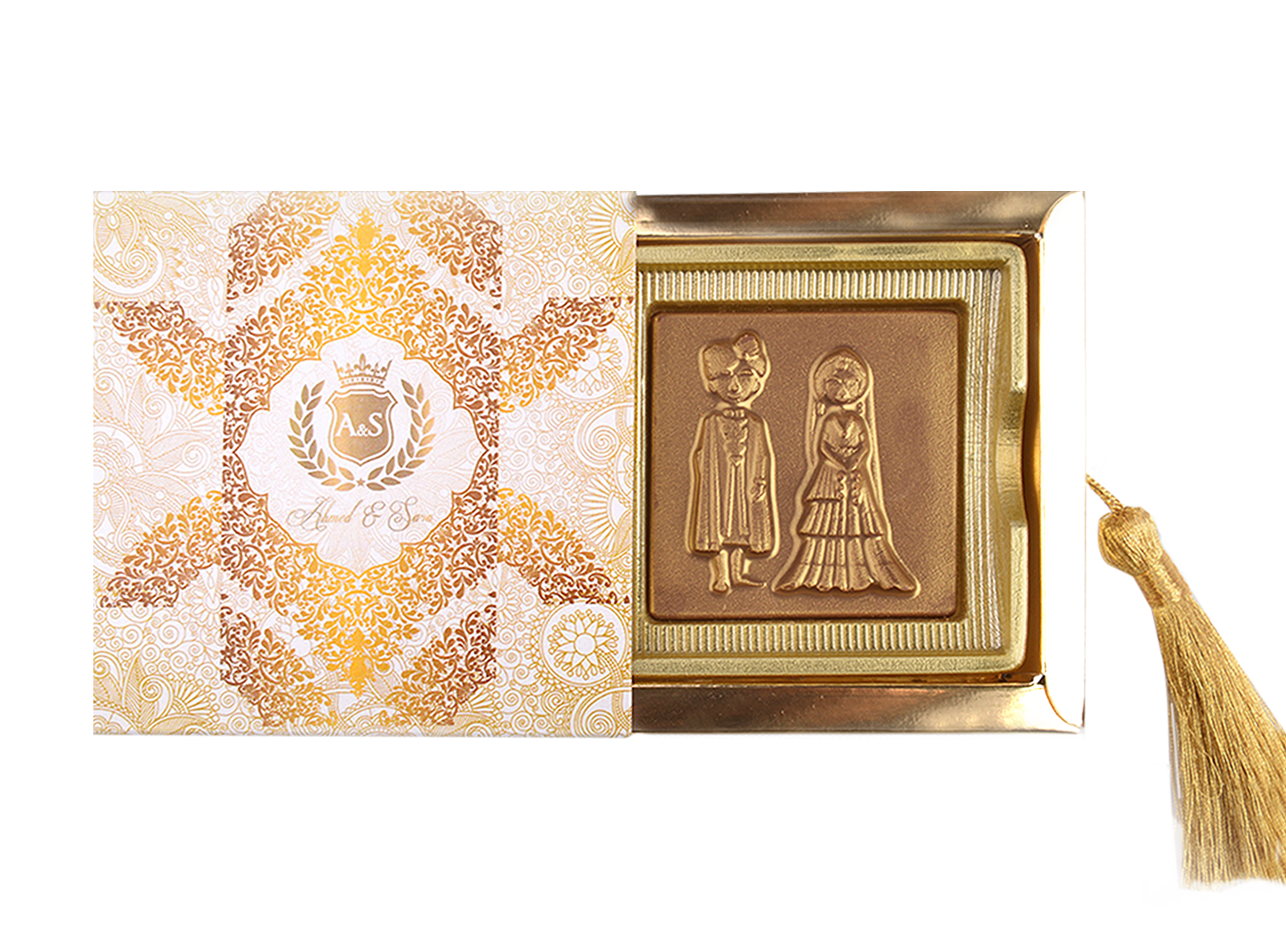 Classic Maharajah Couple Bar, 1 Pc Customized Belgian Chocolate