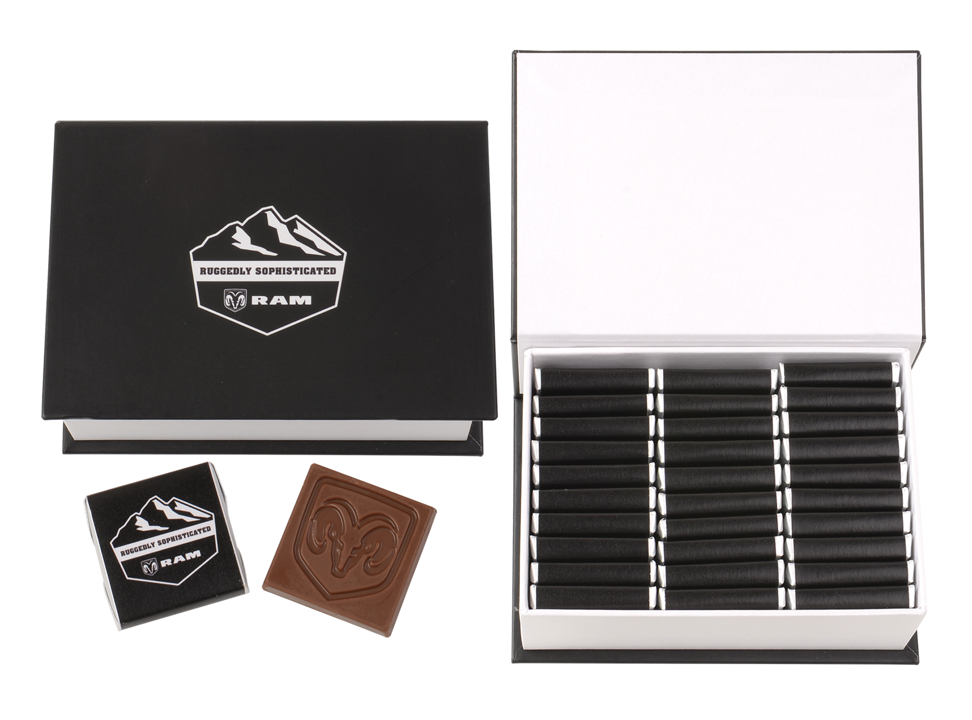 Bosco, Customized Belgian Chocolate Wrappers In A Box Of 30