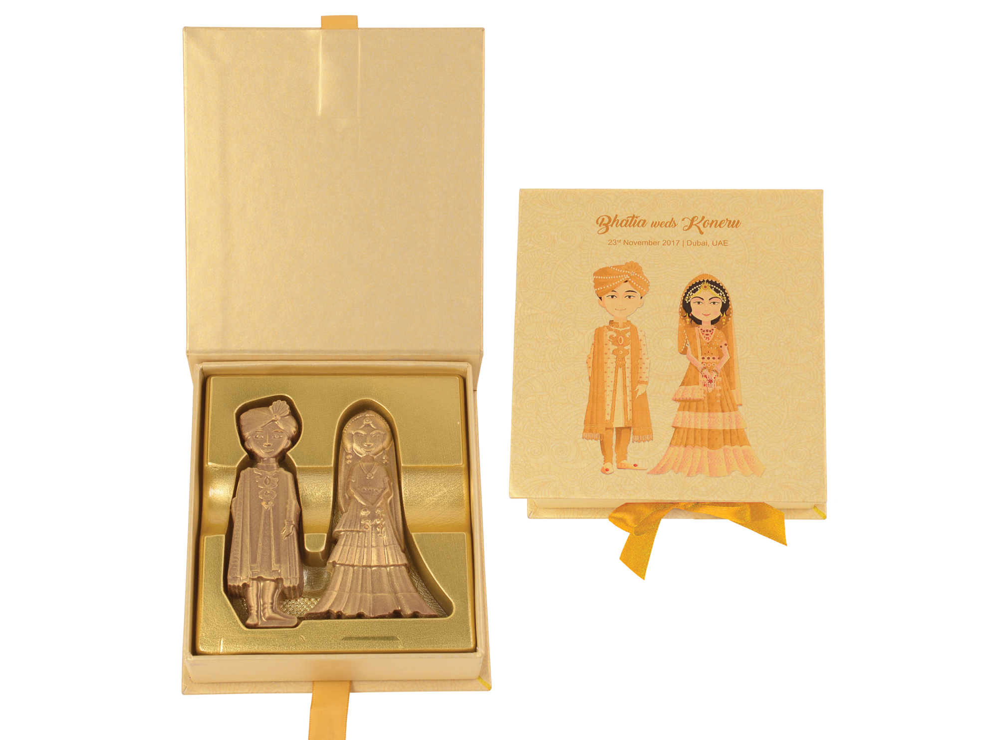 Grand Maharajah Couple, 2 Pcs Customized Belgian Chocolate