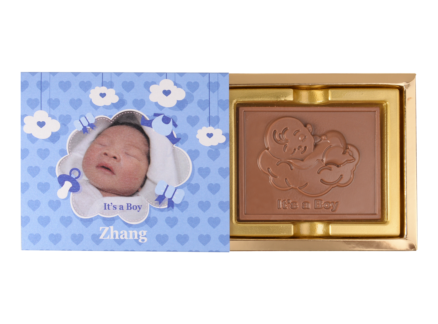 Greeting Bar It's A Boy, 1 Pc Bar In Belgian Chocolate. Return Gift