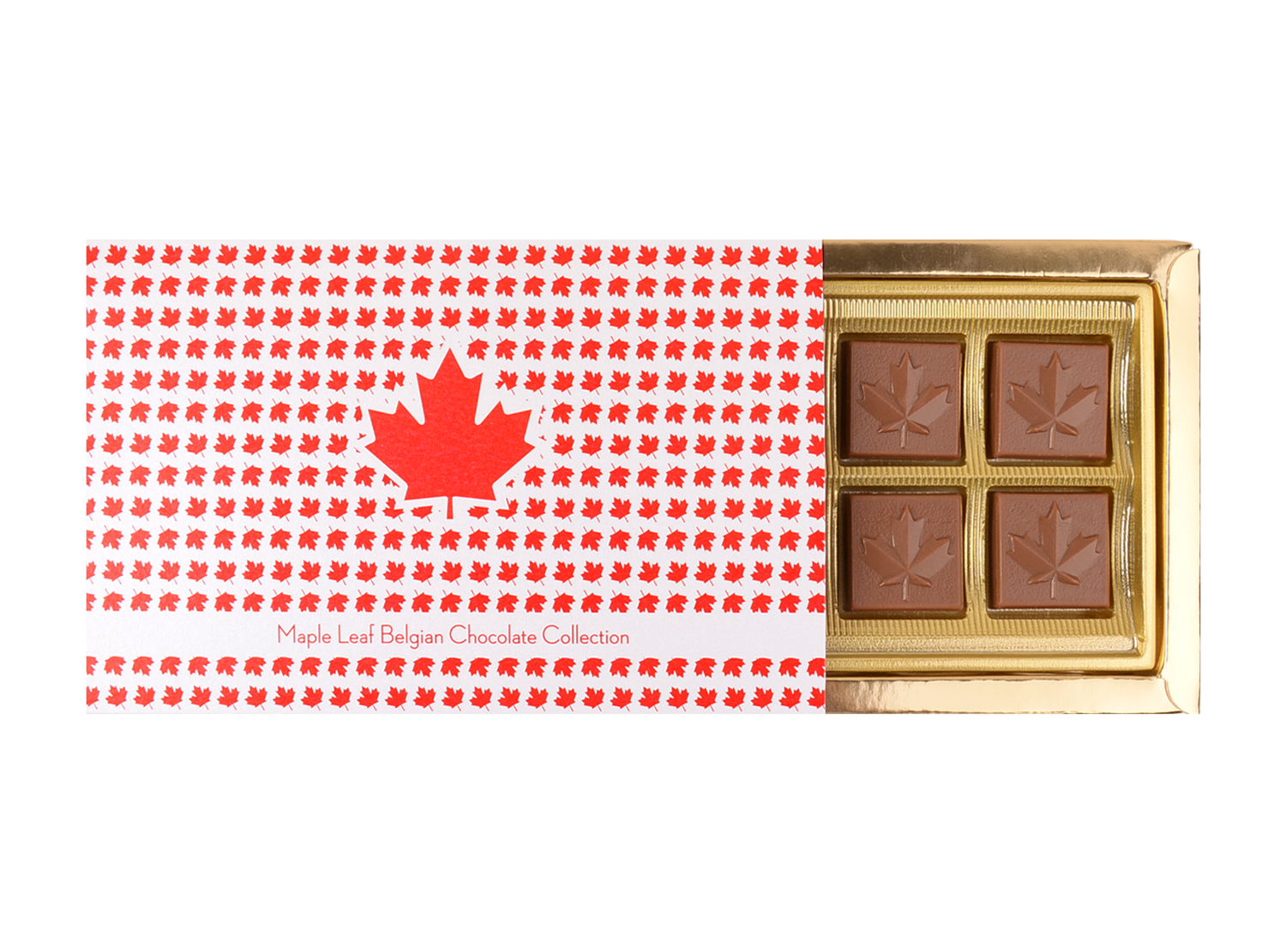 Mon Amie, 8 Pcs Maple Leaf Collection In Customized Belgian Chocolate